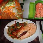 Cómo hacer salmón con verduras y salsa de soja con lékué