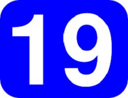 Cómo se escribe 19